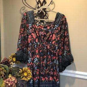 Venus Bell Sleeve boho dress